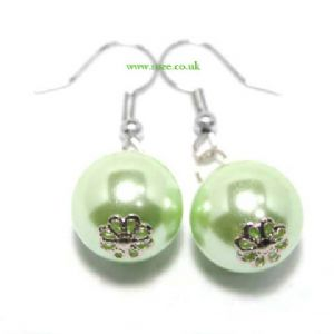 Green bulb earrings, (jee24)